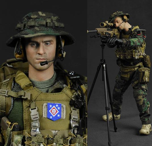 1:6 scale Super flexible military figure MARSOC MSOT Recon Sniper 12 action figure doll Collectible Model Plastic toy