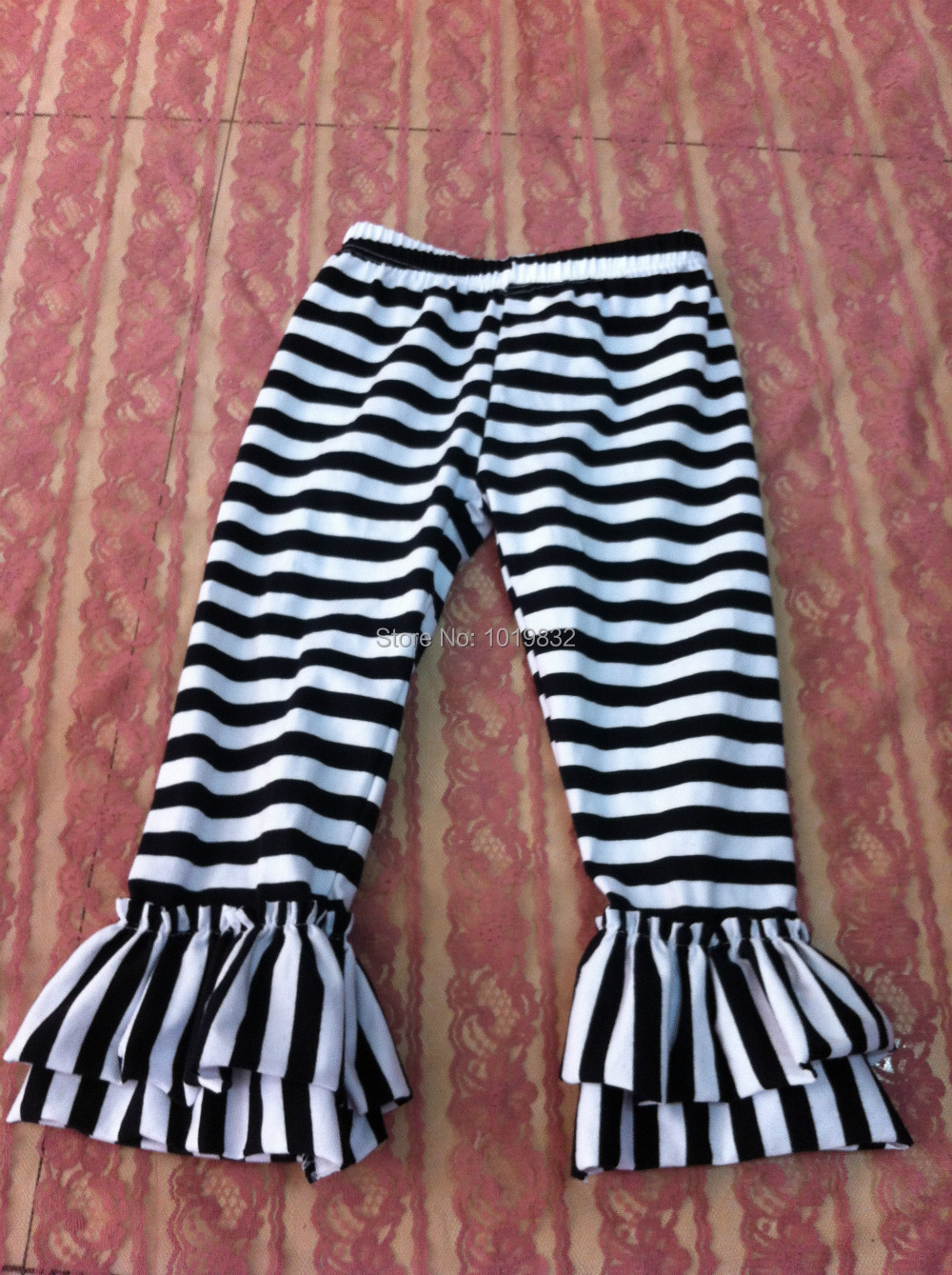 6d07bff55edb97 Kids Leggings Girls Black/White Stripe Ruffle Pants Leggings-in Pants from  Mother & Kids on Aliexpress.com | Alibaba Group