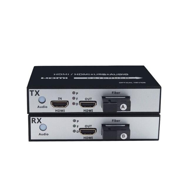 1 Đôi 1 kênh 1 trong 2 CỔNG ra HDMI Quang Bộ Chuyển Đổi 1080 P HDMI Cáp Quang Video Mở Rộng HDMI video Thu Phát quang nhà ga