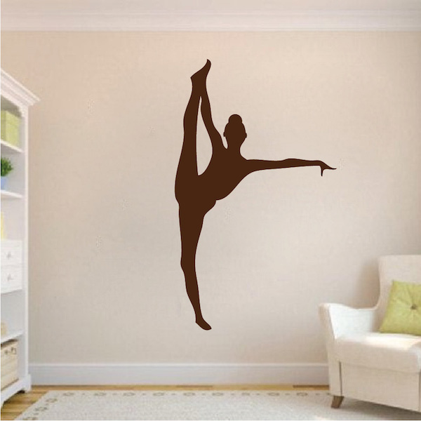 Gymnastics Girl Wall Mural Removable Home Background Decoration