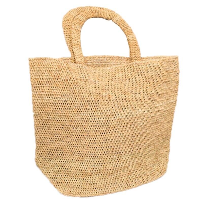 Sac de paille fait à la main loisirs plage stockage femmes sacs mode Totes tissé africain sac à bandoulière fait à la main sac de station balnéaire