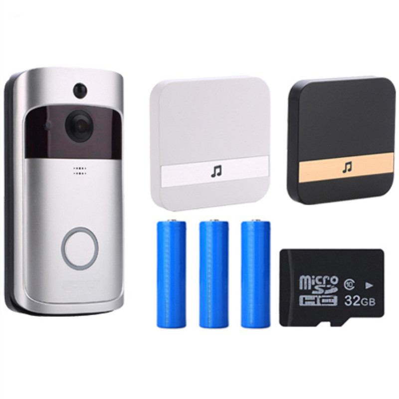 V5 Doorbell Smart IP WIFI Video Intercom WI-FI Door Phone Bell Camera For Apartments IR Alarm Wireless Security Camera(China)