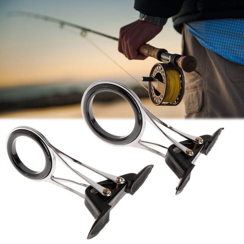 Foldable Fishing Rod Guides Tips Rings Pole Repair Kit DIY Rod Building Part