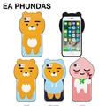 Fundas case conque для iphone 6 s case 3D аниме Мультфильм красочные персик кремния мягкая обложка для iphone 7 case 7 плюс задняя крышка