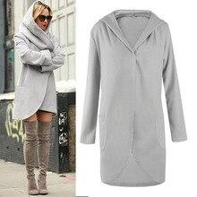 Women Thick Long Woolen Blends Coat 2017 Autumn Winter Fashion Loose font b Ladies b font