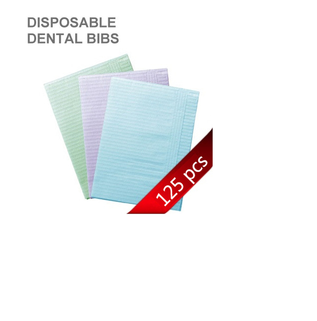 125pcs Medical Paper Scarf Tissue Tattoo Accessories Bib Dental Double Layer Disposable Water-resistant Sheets