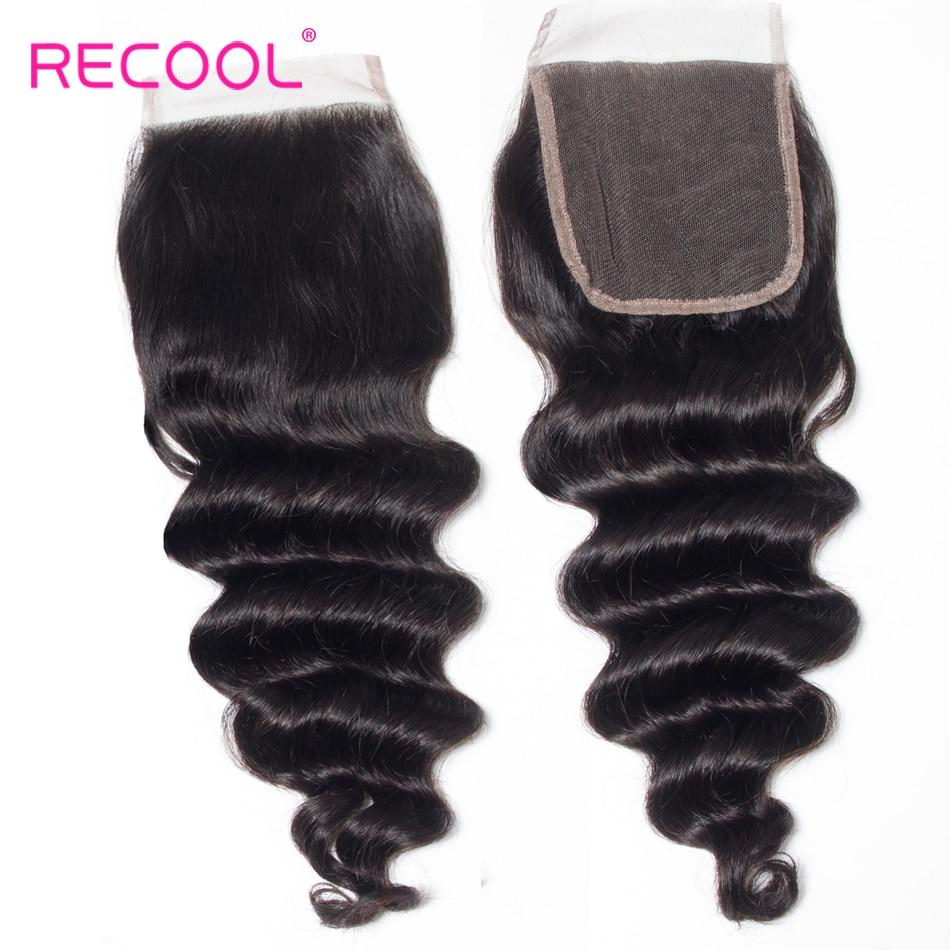 Recool Hair Loose Deep Wave Bundles With Closure Remy Brazilian Hair Bundles With Closure Human Hair Recool Hair Loose Deep Wave Bundles With Closure Remy Brazilian Hair Bundles With Closure Human Hair Weave Bundle With Closure