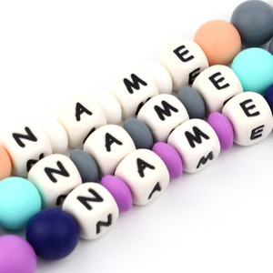 Image 2 - TYRY.HU 500PCS Silicone Letters Personalized Name Pacifier Clips Beads  BPA FREE Silicone Dummy Holder Accessories