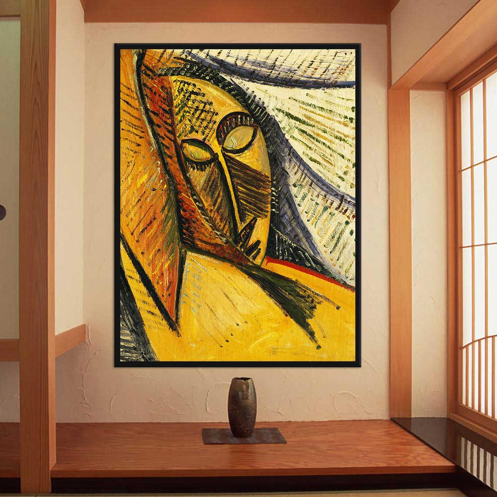 Warmsun Pablo Picasso Soyut Yagliboya Resim Cogaltma Tuval Boyama