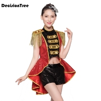 2019 summer costumes nightclub bar dj singer sexy stage costume red tassels bikini party jazz dance performance clothing