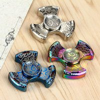 New EDC Fidget Spinner Hand Toy Stainless Steel Bearing Finger Spinner Autism and ADHD Anti Stress Metal Spiner Toys For Kids