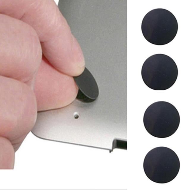 4 יח'\חבילה תחתון מקרה גומי רגל Pad מעמד מחשב נייד החלפת רגליים בסיס עבור Macbook Pro רשתית A1398 A1425 A1502 שחור