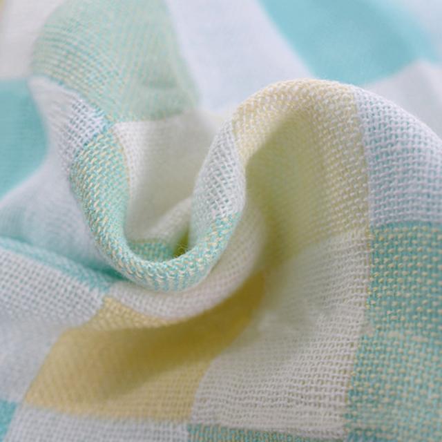 Hot Sale 28*28cm Square Cotton gauze Plaid Kids Towels