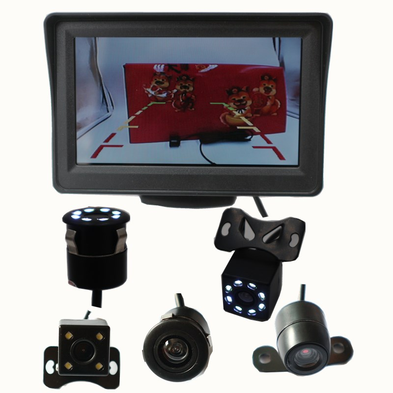 The car automatically shows the lcd4.3-inch desktop 4.3''tft video reverse system with rear view camera