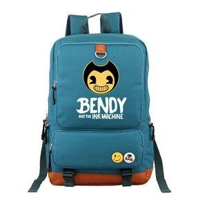 Image 2 - Bendy and The Ink machine Backpack For Teenagers Students Schoolbag Boys Girls  Kids Backpacks Travel Book Bag Mochila Infantil