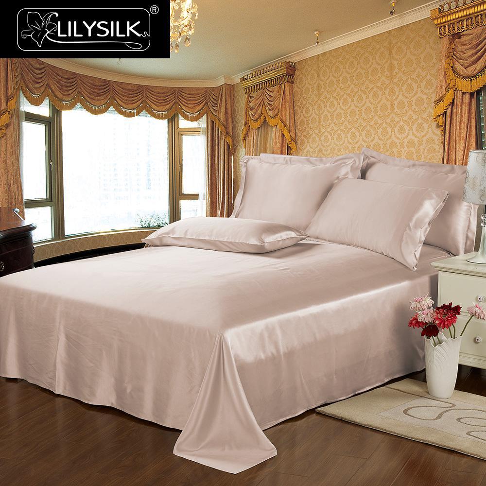 Lilysilk Flat Sheet Silk Pure 100 Natural Mulberry 19