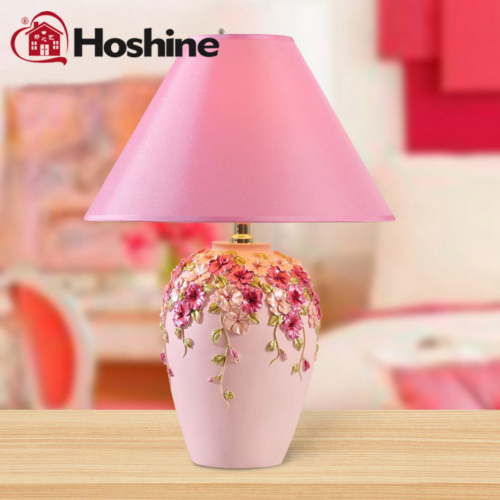 Hoshine Modern Decorative Abajur Purple Flower Led Table Lamps for ...