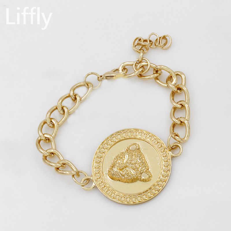 Европейская и американская мода для мужчин и женщин 18 золотых комплектов ювелирных изделий Ожерелье Кольцо Серьги для женщин подарок на день рождения ювелирные изделия