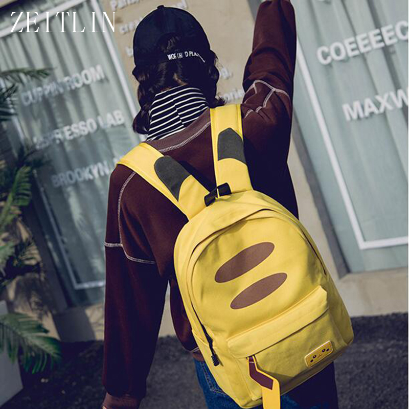 Canvas Anime Backpack School Bags for Teenager Girls Boys Cosplay computer Rucksack Kawaii Mochila Feminina S466 anime pokemon pikachu backpack pokemon computer backpacks school bags for teenager girls boys kawaii mochila feminina package