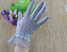Тонкие Перчатки автомобильные для лета Для женщин для верховой езды Батарея перчатки для водителя для лета Для женщин дыхание короткие перчатки для вождения солнцезащитный крем