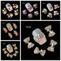 10 Unids/pack (1 pack = 1 estilo) 3D Decoraciones de Uñas Arco de Mariposa de Lujo Bebidas Cerveza Taza DIY Glitter diamantes de imitación Para Uñas Herramientas de Arte