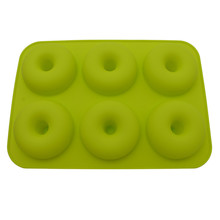Dropshipping 6-Cavity Silicone Donut Baking Pan Non-Stick Mold Dishwas