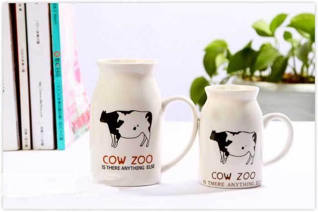Wholesale Zakka style milk cup cartoon graphic patterns ceramic mug,small