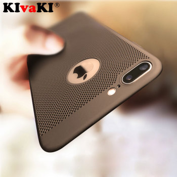 Ultra Slim Phone Case For iPhone 6 6s 7 8 Plus 5 5S SE Hollow Heat Dissipation Hard PC Cases For iPhone X XR XS MAX Back Cover