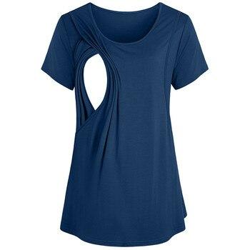 433ce8b3c237ee9 Одежда для беременных кормящих женщин кормящих грудью Футболка для  беременных Топ sukienka ciazowa4.794