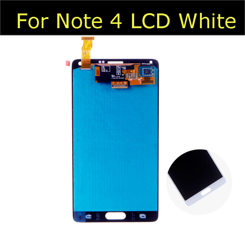 For Samsung galaxy Note 4 N910 LCD Display Touch Screen Digitizer Assembly Free Shipping  White Or Grey 100% brand new lcd digitizer touch screen display assembly for samsung galaxy note 4 n910 n910a n910v n910p n910t black or white