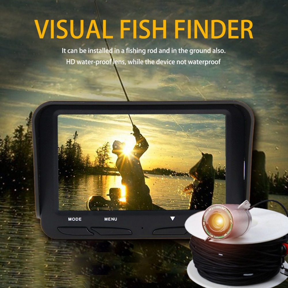 Wide Angle Lens 4.3 Inch TFT LCD Fishfinder Display Dual Underwater Camera 200W HD Water-proof Lens Fishfinder монитор wide corporation lcd pa1sa5x корея