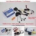 Para Citroen C3 Picasso/C4 Picasso Carro Sensores de Estacionamento + Rear visão Da Câmera = 2 em 1 Visual/BIBI Alarme Sistema de Estacionamento