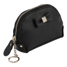 New Women Fashionable PU Leather Simple Bow Decoration Wallet Coin Bag Hot Selling