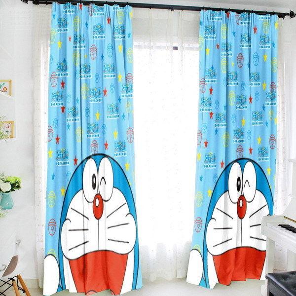 Home Decoration Doraemon Anime 150*200CM Milk Fiber Fabric Window Curtain #40815