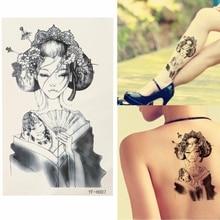 Beautiful Design Waterproof Japan Geisha Temporary Tattoo Body Tattoo Sticker Arm Leg Art Stickers Removable