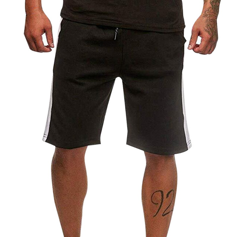 HEFLASHOR Brand  Sports Shorts Loose Elastic Waist Drawstring Bottom Running Short Masculino Clothes Men Casual