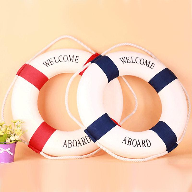 Nautical Style Aboard Wall Decorative Life Buoy Home Decor Marine Wall Boat Decoration For Coffee Shop Restaurant