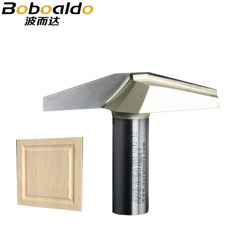 1pc 1/2 10 15Deg Stile Panel Router Bits CNC Bit Woodworking Tools Two Flute Arden Router Bits For Wood Cutting Door Router Tool
