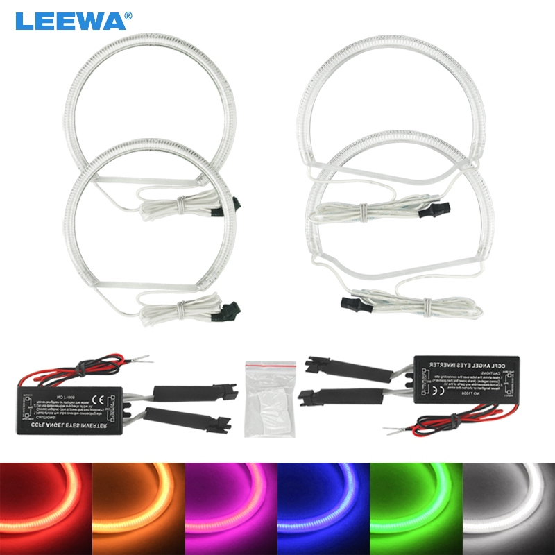 цена на LEEWA 2X131MM 2X134MM Car CCFL Angel Eyes Light Halo Rings Kits For BMW Z3 series 98-02 M Coupe/Roadster DRL White/Blue #CA4509