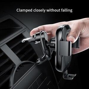 Image 4 - Baseus chargeur de voiture sans fil infrarouge pour iPhone XS XR Samsung S9 rapide QI chargeur sans fil évent montage voiture support de téléphone