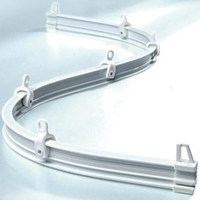 Balcony curtain rod curved track curtain rail slide rack special ...
