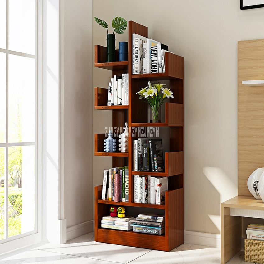 CW01 Modern Creative Land Wooden Bookshelf Bedroom Children Simple Bookcase Living Room Wooden Storage Rack Display Cabinet