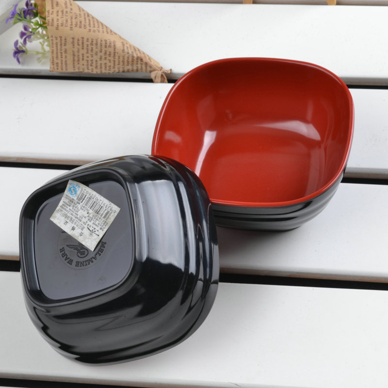 5 INCH Free Shipping Imitate Ceramic Instant Noodle Bowl Ice Cream Salad Bowl Plastic Japanese Square Tableware Sugar Fruit Bowl-in Bowls from Home u0026 Garden ... & 5 INCH Free Shipping Imitate Ceramic Instant Noodle Bowl Ice Cream ...