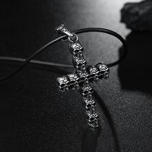 Colar pingente cruz tibetana, antiguidade, cruz de prata, caveira de titânio, cruz de jesus, joias masculinas de crucifixo