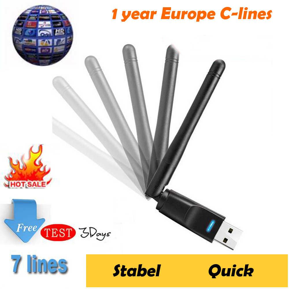 DVB-S2 Europe Cccam Cline pour 1 ou 2 ans espagne Test gratuit Europe serveur pour espagne/italie/Portugal/allemagne GTmedia V8 Nova V7s HD