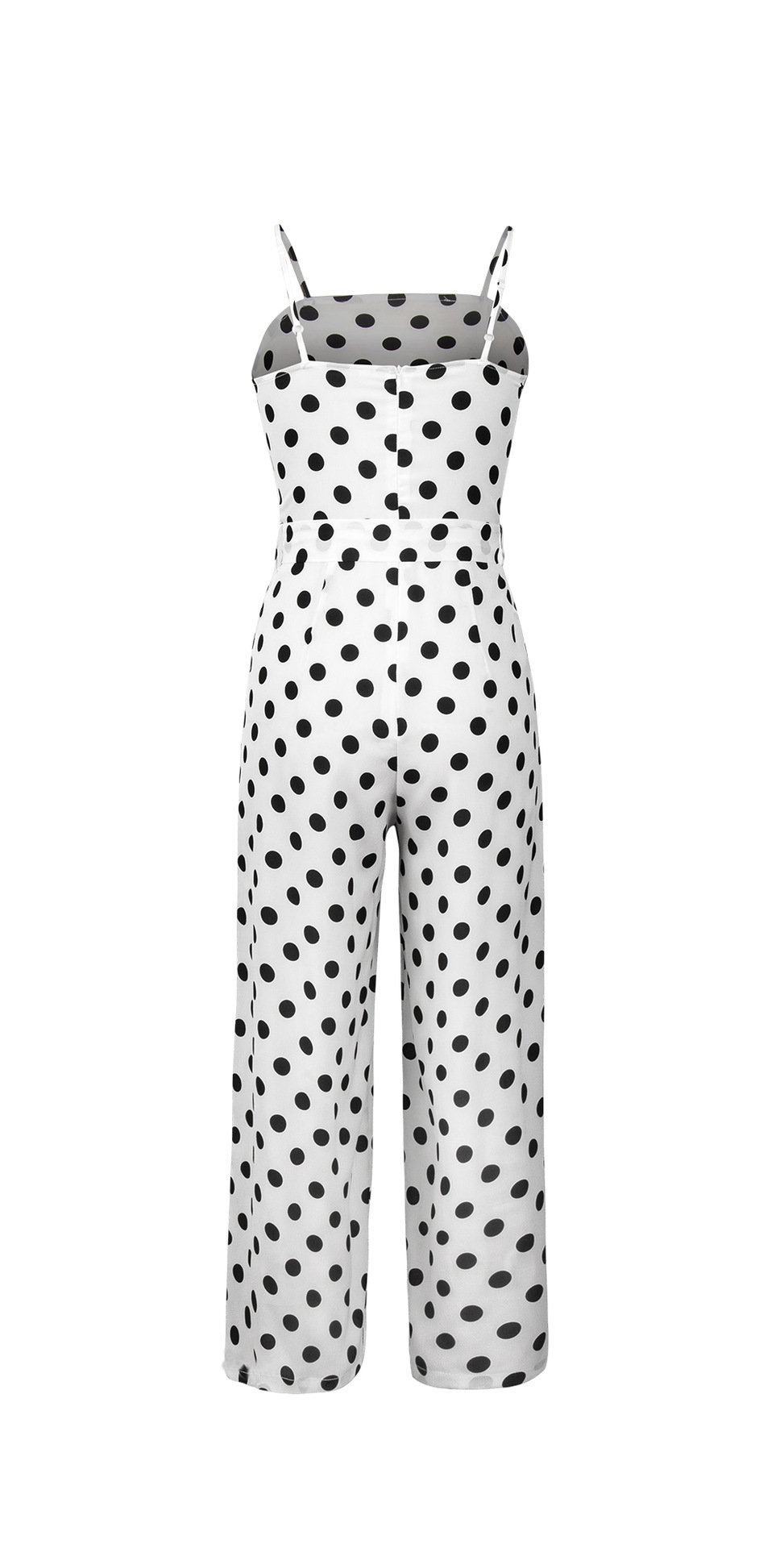 HTB1XG7LbjvuK1Rjy0Faq6x2aVXa7 - Women Rompers summer long pants elegant strap woman jumpsuits polka dot plus size jumpsuit off shoulder overalls for womens