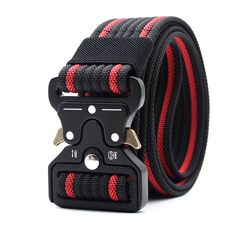Belt   Men Tactical Military Nylon   Belt   Army SWAT Metal Buckle Heavy Duty Safety Survival Gear Black Waist   Belts   Accessories 38MM