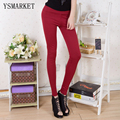 New 2017 Fashion Casual Solid Colors Leggings High Waist Pencil Pants Sexy Slim Fit Women Leggings Plus Size XL RGY001 hot sale