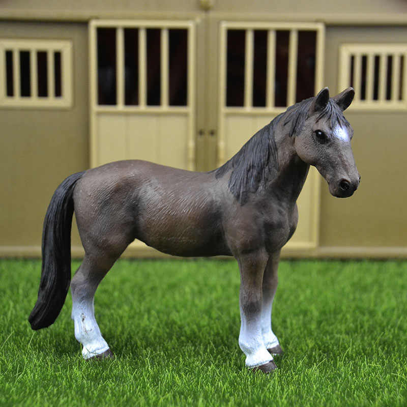 Original genuine Wild farm Animal Tennessee Walking horse Figurine figure Model kids toy collectible