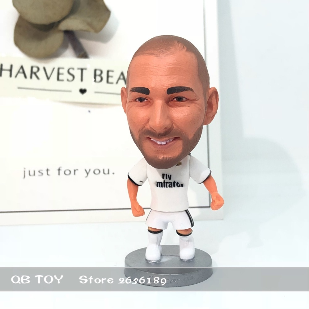 Soccerwe figurine Sports stars 18-19 Benzema Home Version Movable joints resin model toy action figure dolls collectible gift
